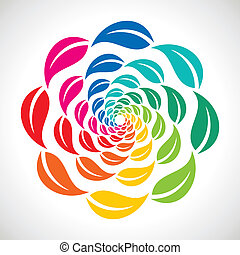 colorful leaf creative icon stock vector