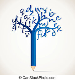 alphabetical tree stock vector