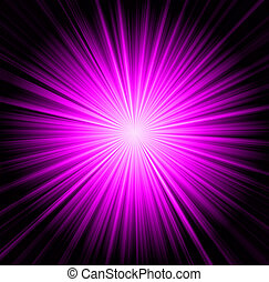 Starburst background, sunbeams going in all directions, pink...