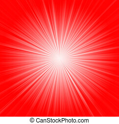 Starburst background, sunbeams going in all directions, red...