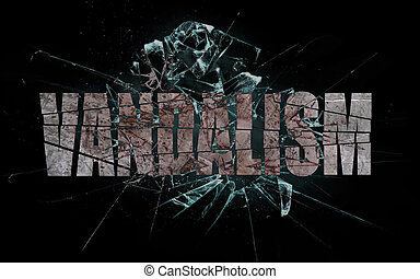 Concept of violence or crash, vandalism - Concept of...