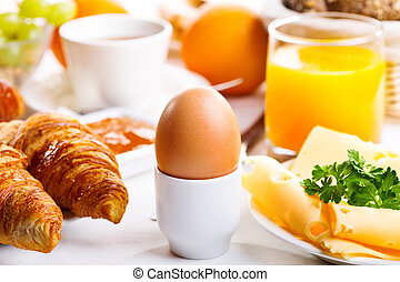 breakfast with  boiled egg