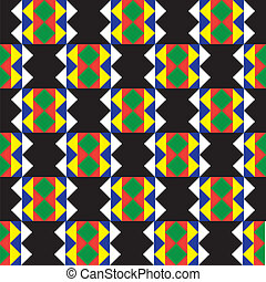 Seamless Zulu Pattern - African background