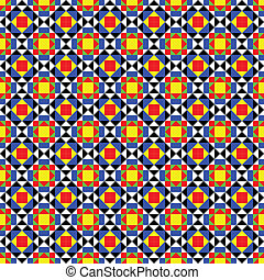 Colorful Mediterranean Tiles Patter - Mosaic