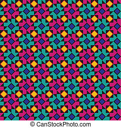 Colorful geometric pattern - Seamless background