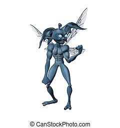 cartoon alien character - 3d render of cartoon alien...