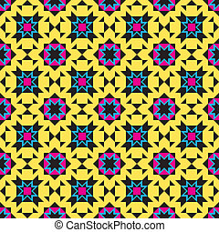 Colorful Ornamental Pattern - Seamless background