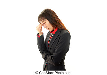 Woman having a headache