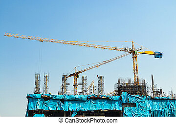 crane working in construction site