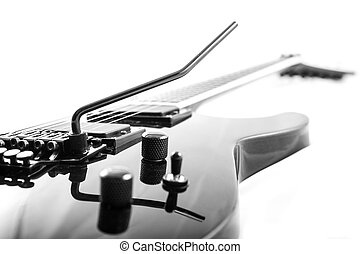 Electric Guitar - Electric guitar detail shots over white...