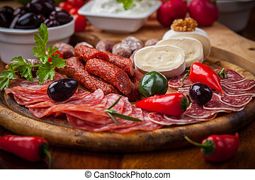 Antipasti and Fingerfood - Catering platter with antipasti...