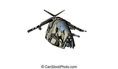 gunship aircraft - 3d render of a aircraft