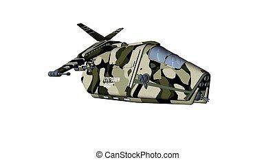 gunship - 3d render of gunship aircraft