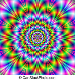 Psychedelic Octet - Digital abstract fractal image with a...