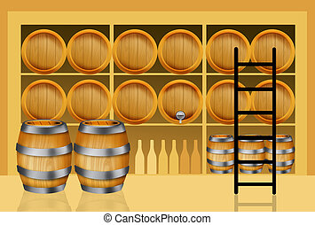 Wine barrels - Wine cellars