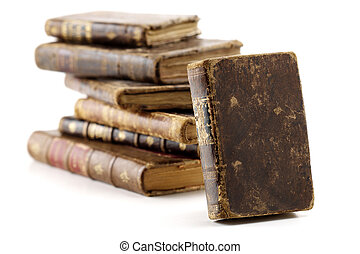 antique books - very old books isolated