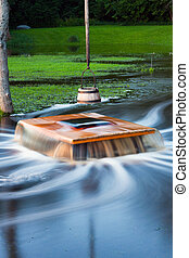 Flooding well Nõiakaev in Estonia - Old flooding well and a...