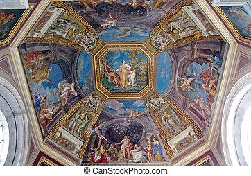 Ceiling in Vatican Museum - Ceiling details in Vatican...