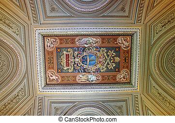 Vatican Museum details - Ceiling details in Vatican Museum,...