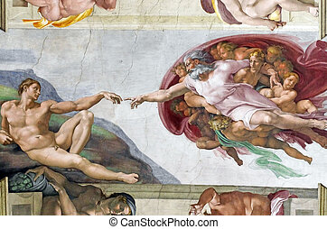Michelangelos frescoes in Sistine Chapel - Michelangelos...