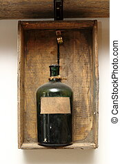 vintage decor with chemical bottle