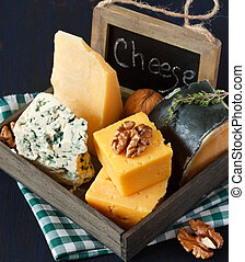 Cheese composition - Various types of cheese composition and...