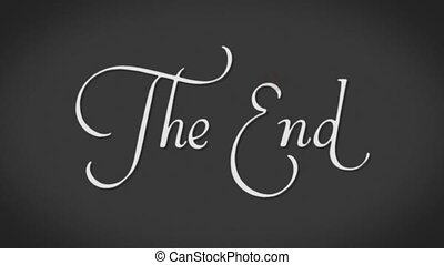 The End - old film, the end