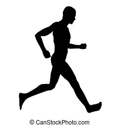 Runner Silhouette - Computer generated 3D illustration with...