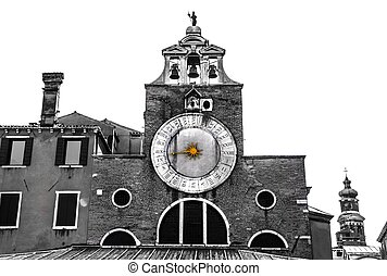 San Giacono Church Clock - Artistic shot of the San Giacono...