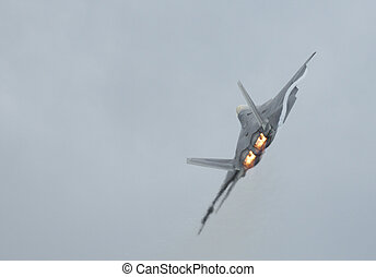 F-22 Raptor turning - Stealth jet fighter F-22 Raptor...