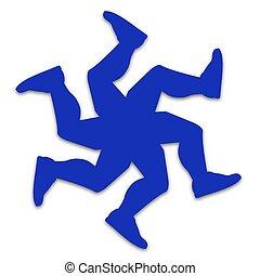 Running Legs - Illustration of running legs isolated on a...