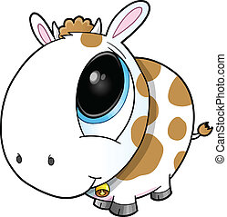 Cute Cow Vector Art