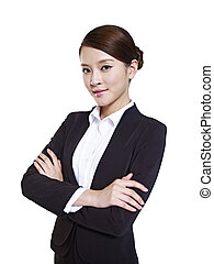 asian business woman - studio portrait of an asian business...