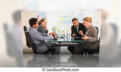 Business meetings montage