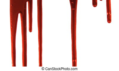 Blood Dripping 2 - Part of a series. Blood dripping down...