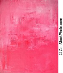 Pink Abstract Art Painting - This is an image of an original...