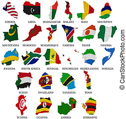 Africa countries flag maps Part2 - Africa countriesFrom L to...