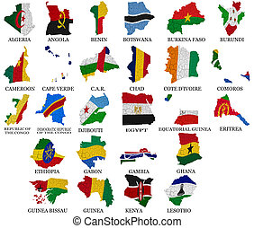 Africa countries flag maps Part1 - Africa countriesFrom A to...