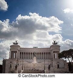 el, plaza, Venezia, Vittorio, Emanuele, roma, Italia