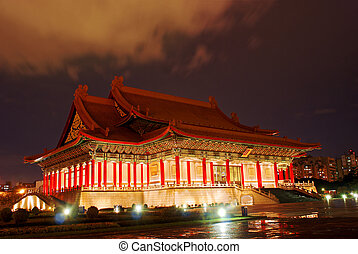 National Concert Hall Taiwan, night scene,Palace-style...