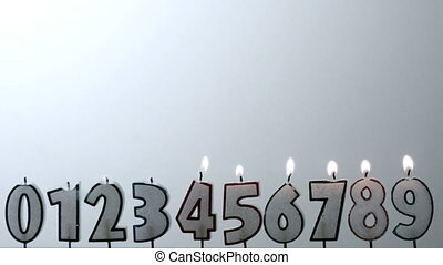 Number candles blowing out in numerical order with copy...