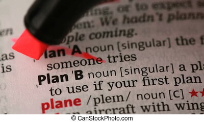 Plan A and Plan B crossed out and highlighted in the...