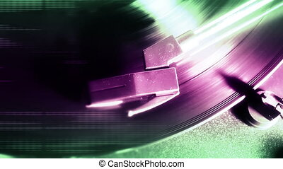 Abstract Record Player Four 30 FPS