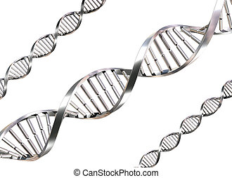 Isolated DNA Strands - Isolated illustration of double helix...
