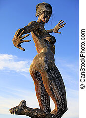Bliss Dance - SAN FRANCISCO-OCT 24: 40-foot mesh sculpture...