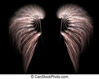 angel wings on black - set of angel wings on black...