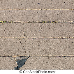 Old Cracked Sidewalk