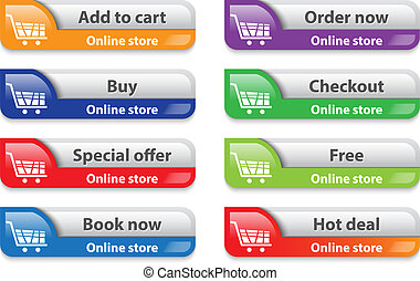 Online storeshop web interface elements - Online shop web...