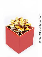 Gift box , studio shot , white background