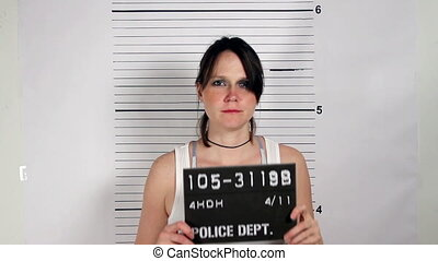 Female Criminal Mugshot - Police mug shots of a female...